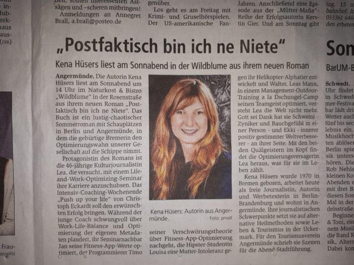 Lesung in Brandenburg