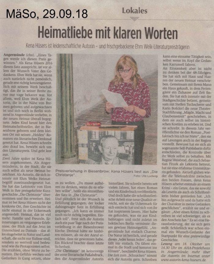 Ehm-Welk-Literaturpreis 2018