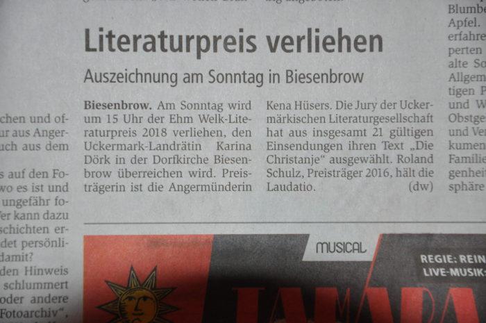 Verleihung in Biesenbrow
